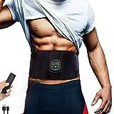 Yonars EMS Muskelstimulator, Bauchmuskeltrainer Trainingsgerät, EMS Trainingsgerät Tragbarer Muskelstimulator, 6 Modi & 18 Intensitäten, USB-Wiederaufladbarer