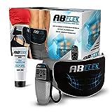 ABFLEX Toning Belt für schlank getönte Bauchmuskeln Handliche Fernbedienung für schnelle und einfache Einstellungen (Schwarz)