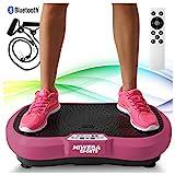 Miweba Sports Fitness 2D Vibrationsplatte MV100-3 multidimensionale Vibrationszonen - Oszillierend - 250 Watt (Pink)